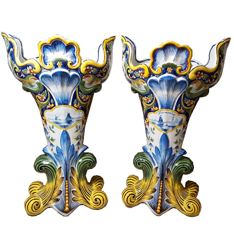 paire vase Rouen