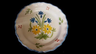 assiette céramique restaurée