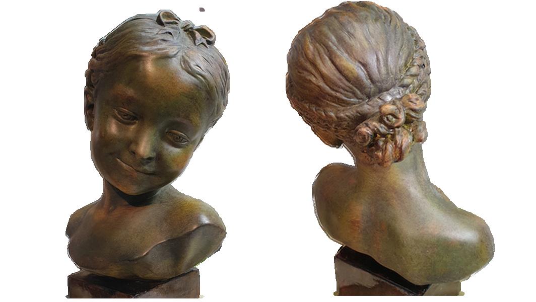 buste plâtre restauré