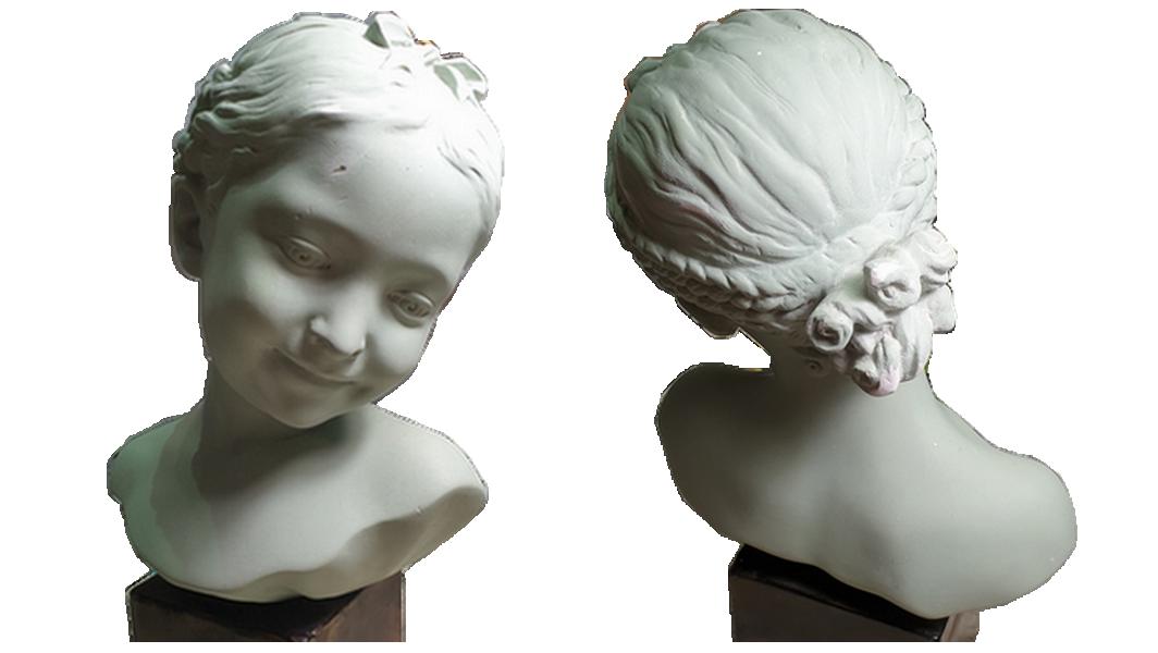 buste plâtre à restaurer